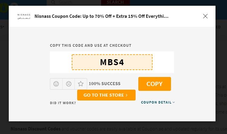 Get Nisnass Coupon Code 2020